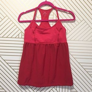Athleta retreat style tank- Sprint Red